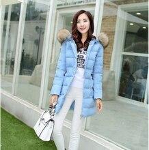 2016 China New Fashion Women Winter Down jacket Hooded Fur collar Thick Super Warm Coat Slim Big yards Leisure Down Coat G2230