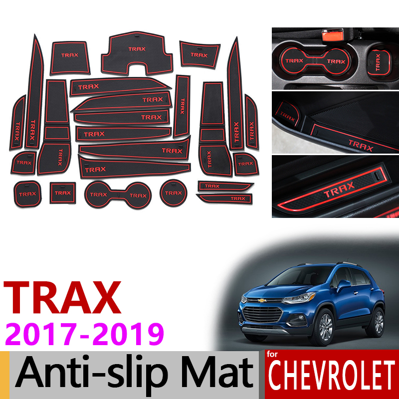 Anti Slip Rubber Gate Slot Cup Mats For Chevrolet Trax
