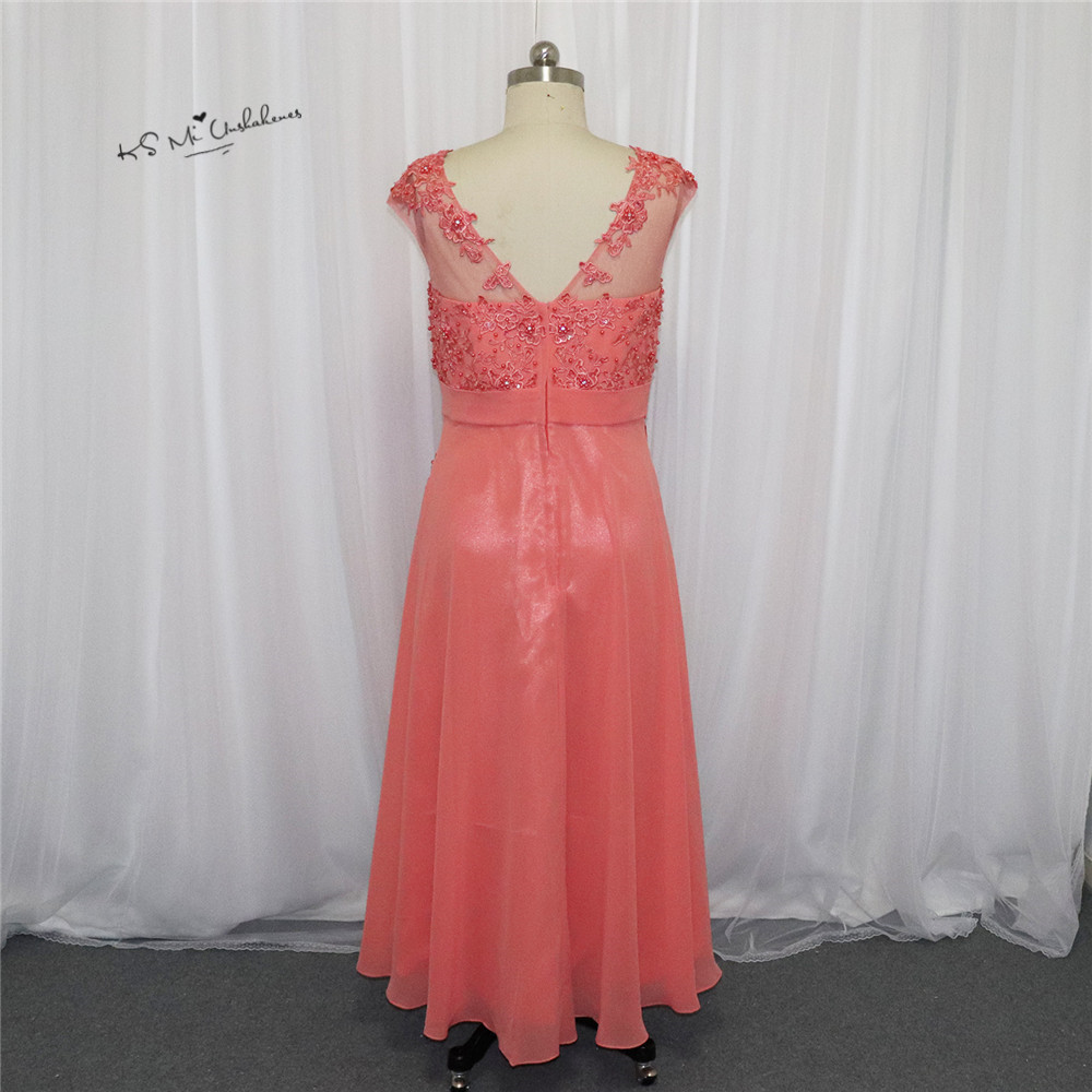Cheap Coral Prom Dresses Long Plus Size Vestidos de Formatura Pearls ...