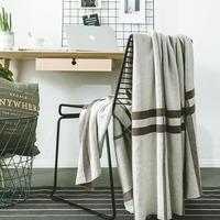 Crochet Wool Blankets for Beds Sofa Plaid Fabric Fleece Portable Air Conditioning Travel knitted Geometric Throw Blanket