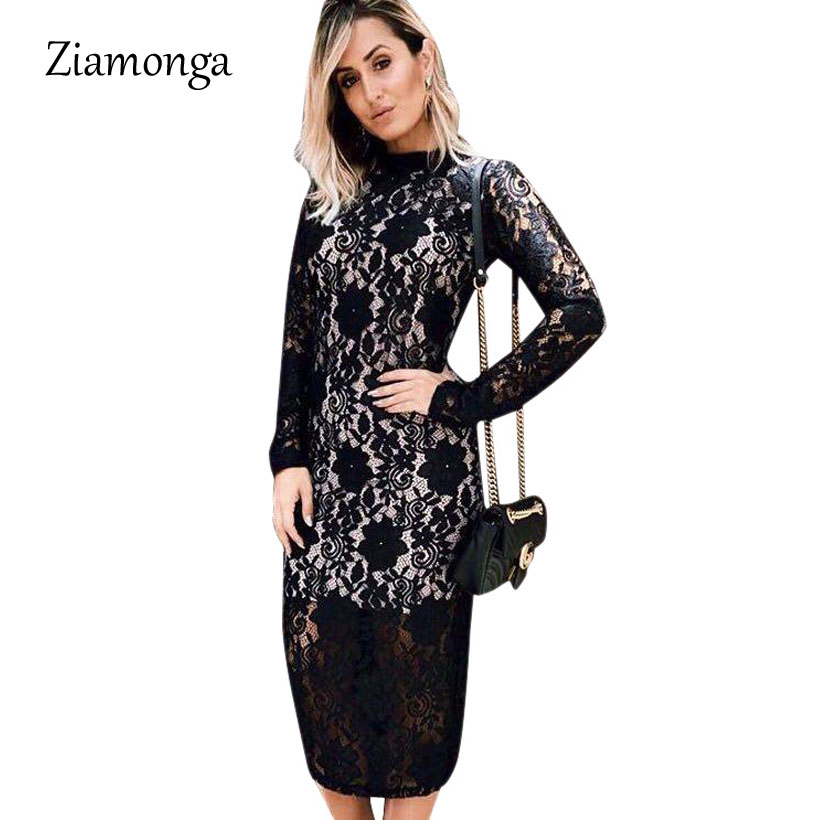 Kind-Hearted Limiguyue 2018 New Spring Lace Dress Women Pearls Bow Tie Hollow Out Slim Party Dress White Black Red Dress Vestidos Z0062 In Many Styles Women's Clothing