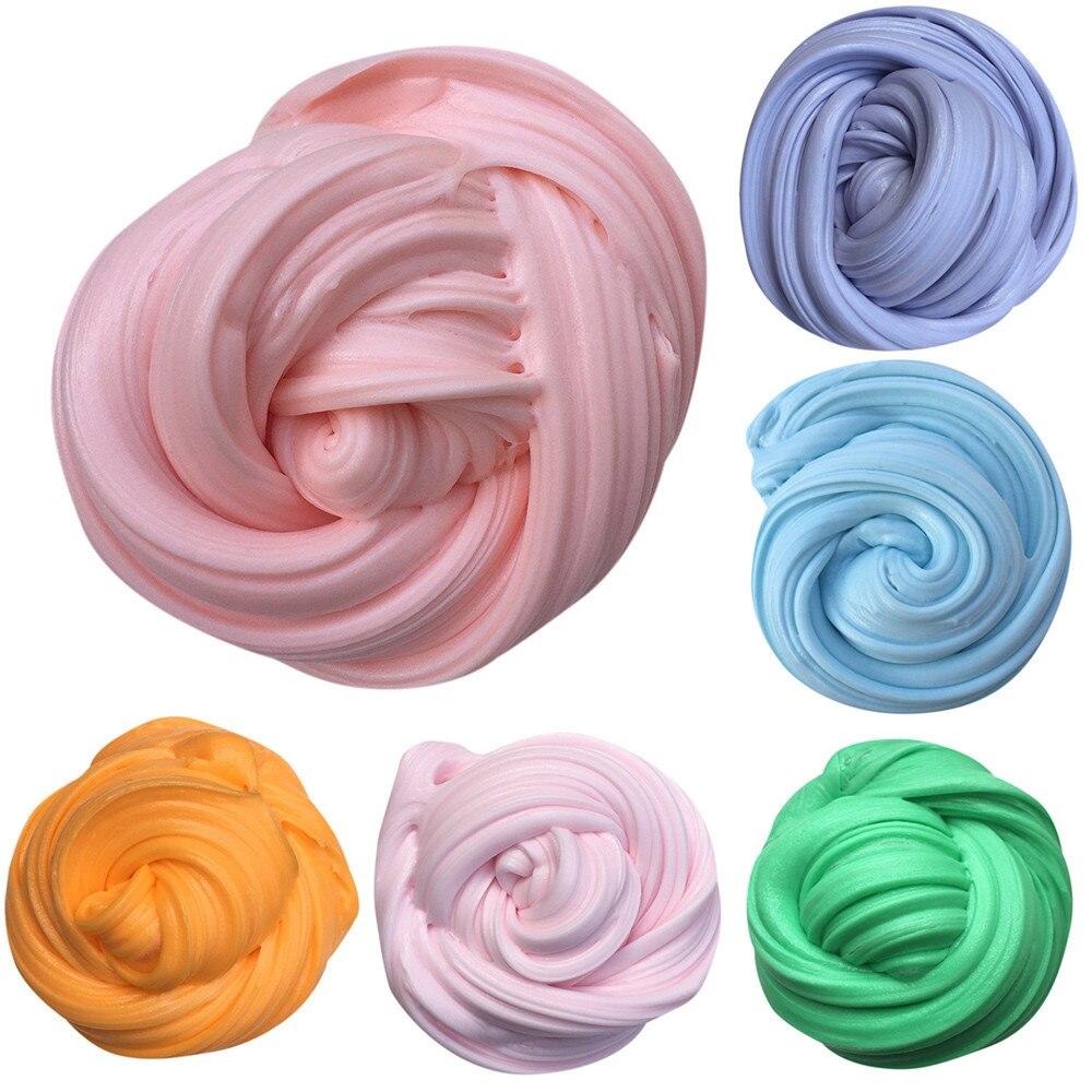 Новое поступление года Забавный 50 г DIY Хлопок слизь глины 3D пушистый floam слизь Ароматические стресса без буры образование Craft грязи игрушка а... ...
