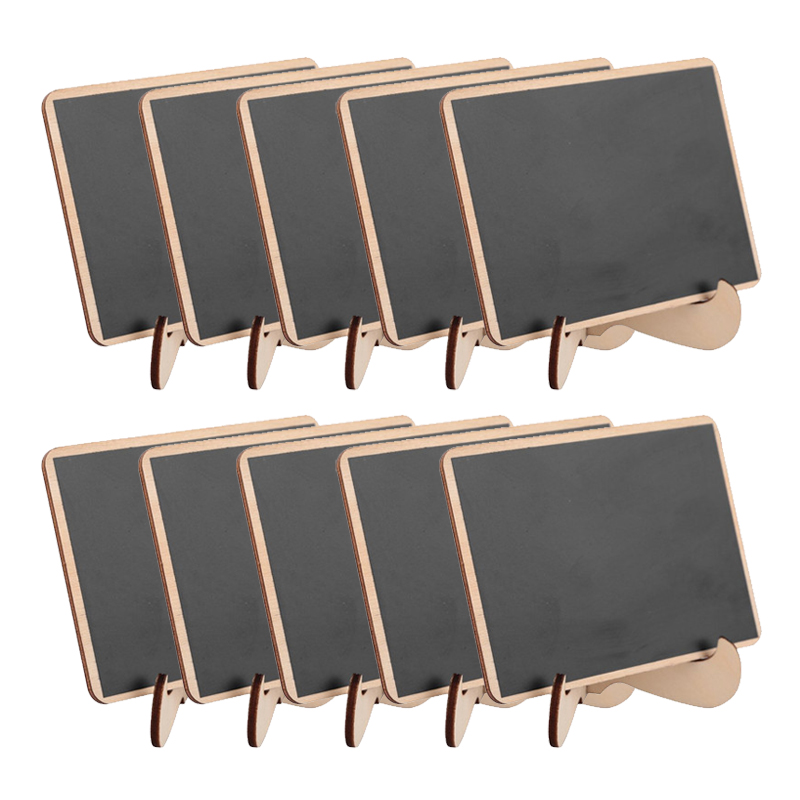 5pcs/Lot  Rectangle Wooden Mini Blackboard For Wedding Party Decorations Chalkboards Message Board(China)