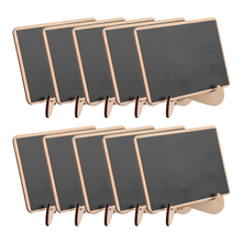 5pcs/Lot  Rectangle Wooden mini blackboard For Wedding Party Decorations chalkboards Message board