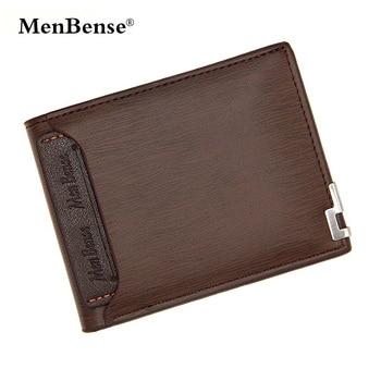 230d5081b Cartera de cuero de hombre Menbense cartera delgada marrón carteira monedero  de hombre Cartera de tarjeta de crédito carteras funcionales 119B-189