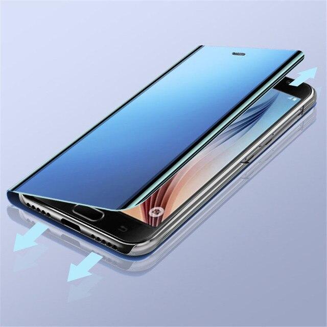 Mirror Flip Case For Samsung Galaxy A50 A51 A21s A71 A20e A12 A11 A31 A41 Note 20 S21 Ultra Cover on Samsung S20 FE S8 S10 Plus 4