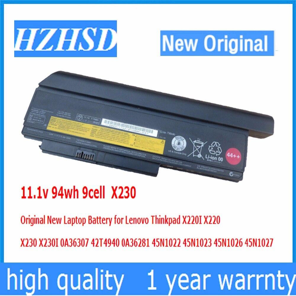 11.1 В 94wh 9 Cell <font><b>X230</b></font> Оригинальный Новый аккумулятор для ноутбука <font><b>Lenovo</b></font> ThinkPad X220I X220 X230I 0A36307 42T4940 0A36281 45N1022 45N1023