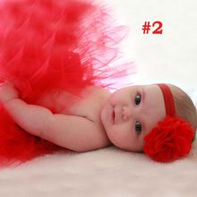 17 Designs Pink Tutu with Flower Headband Newborn Photography Props Princess Full Fluffy Little Girl Tutu Skirt TS032(China)