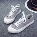 Korean academy of retro joker canvas shoes classic low-top leisure small white shoes for women's shoes with flat autumn