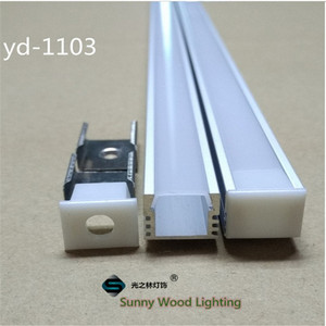Image 4 - 40 m/lote, 20 piezas de 2m ,80 Perfil de aluminio led inch/pc para tira de 8 11mm, canal led para cinta 5050,5630,3528, pista de luz de barra led