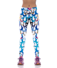NEW KYK1054 Sexy Girl Women National Water Drop 3D Prints High Waist Polyester Fitness Women Leggings Jogger Pants Plus
