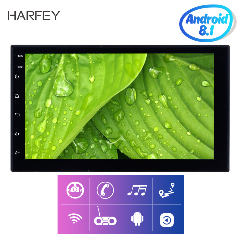 Harfey car monitor Universal Android 8 1 7 inch 2Din Car Radio GPS Multimedia Player For
