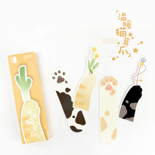 30pcs/box feline claw Gift Bookmarks Marker Stationery Realistic Kawaii Cartoon Office School Supply