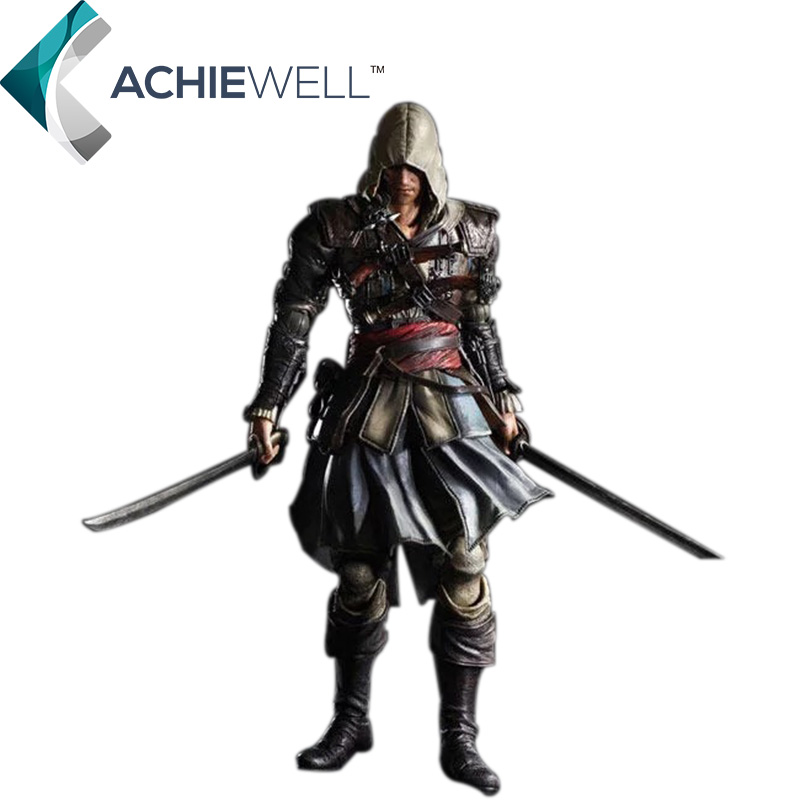 New Game Figurine Play Arts Assassins Creed 4 Black Flag Edward