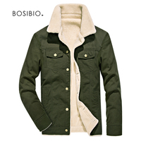 Mens Spring Winter Jackets Army Green Thick Parkas Male Warm Fur Collar Bomber Jackets Mens Coat
