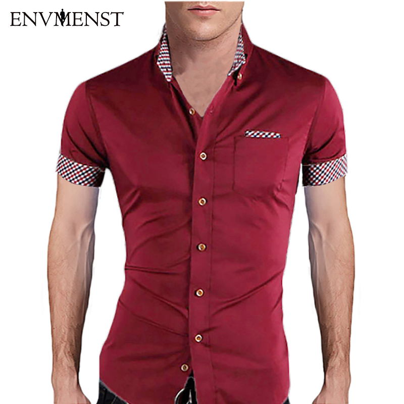 Buy asian size men summer fashion for Fitted short sleeve dress shirts