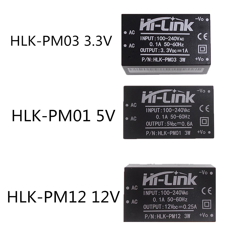 HLK-PM01 HLK-PM12 HLK-PM03 Brand New Original HI-Link AC-DC Isolated Step-down Power Supply Module 220v To3.3/5/12V Smart Home