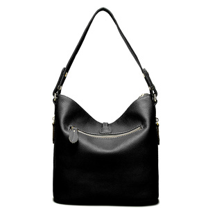 Image 4 - Zency New Fashion Women Shoulder Bag Metal Tassel 100% Genuine Leather Lady Crossbody Messenger Elegant Gift Handbag Black White