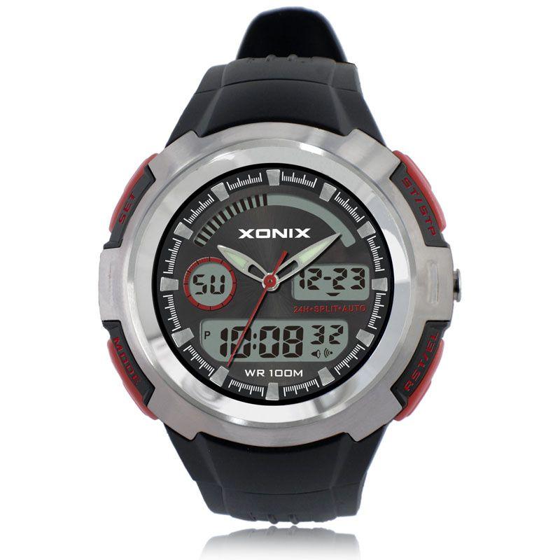 100m waterproof mens sports watches relogio xonix brands hot men pu sport watch reloj s for Watches brands for men