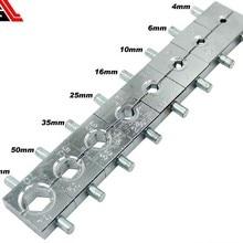 Ручной Гидравлический Электрический кабель провода терминал обжимной инструмент набор штампов 4, 6, 10, 16, 25, 35, 50, 70 мм2