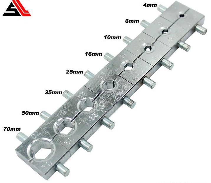 Manual Hydraulic Electric Cable Wire Terminal Crimping Tool Die Set 4, 6, 10, 16, 25, 35, 50, 70mm2
