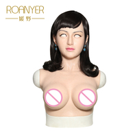 Roanyer Angela realistic silicone face masks for halloween festive & party sexy female latex doll cosplay crossdresser masquera