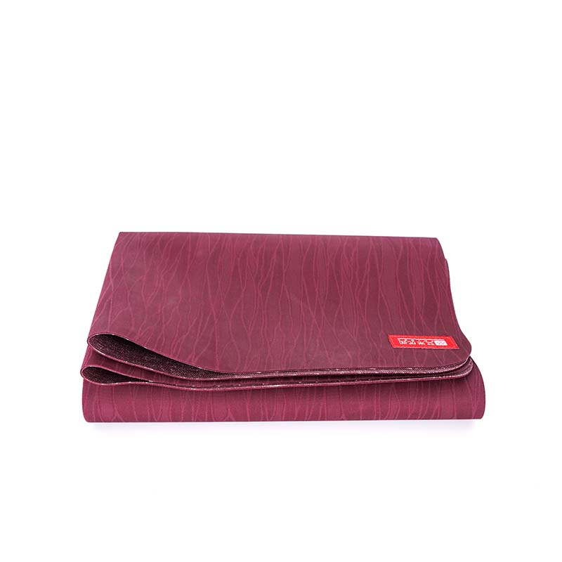 easy to fold anti-slding super thin travel yoga mat in rubber foam