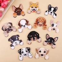 Dog Style Patches Embroidered Cloth Stickers Cartoon Puppy Sewing Patch Diy Cute Garment Decoration Stickers