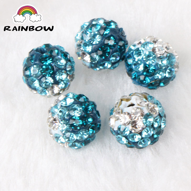 Beads 50pcs 10mm 33colors Shamballa Beads Crystal Disco Ball Beads Shambhala Spacer Beads Shamballa Bracelet Crystal Clay Beads 100% High Quality Materials
