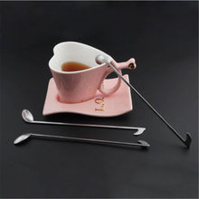 New Creative Stainless Steel Note Shape Spoons for Drink Dessert Honey Coffee Tableware Tools 1030(China)