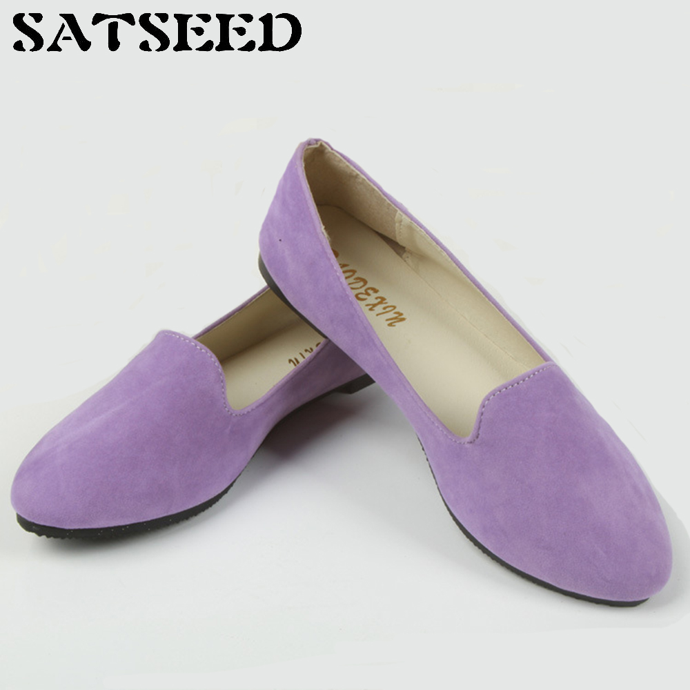 2018 Women Vulcanize Shoes Spring Sweet Multicolor Work Shoes Big Size 43 Flat Pointed Toe Casual Women Shoes Slip-on Shallow hot sale 2016 new fashion spring women flats black shoes ladies pointed toe slip on flat women s shoes size 33 43