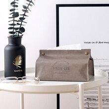 Caja de pañuelos creativa de cuero PU servilletero plegable diseño de piña rectángulo hogar soporte para papel de cocina caja de almacenamiento