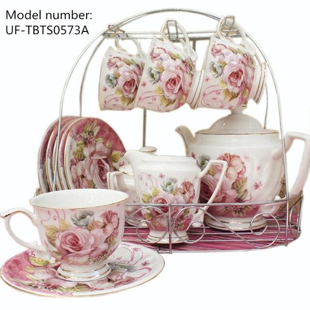 European Past Style Tea And Coffee Sets Ceramic Porcelain Cup Set Mug