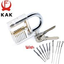 Transparent Visible Pick Cutaway Practice Padlock Lock With Broken Key Removing Hooks Lock Kit Extractor Set Locksmith Tool цена 2017