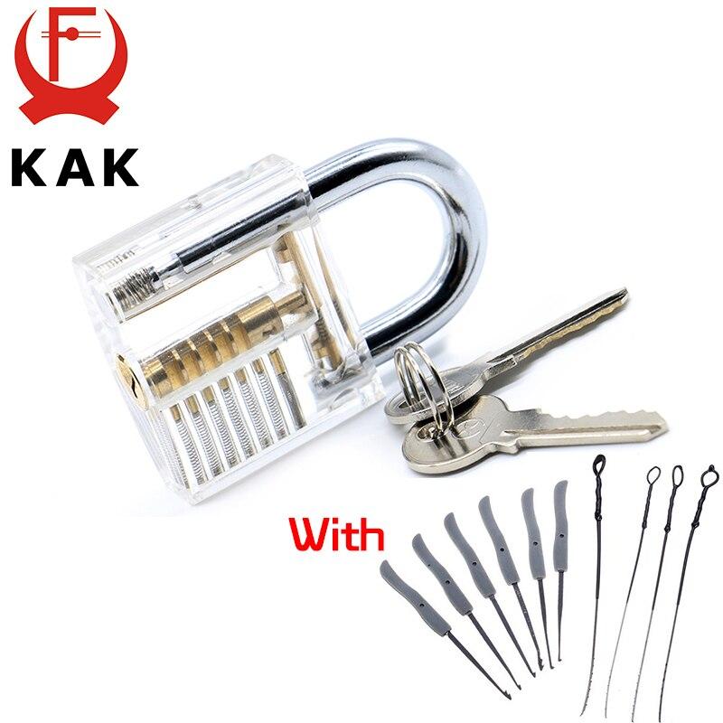 Kak transparente visible pick cutaway práctica candado con llave rota quitar los ganchos de bloqueo kit extractor set de herramientas de cerrajería