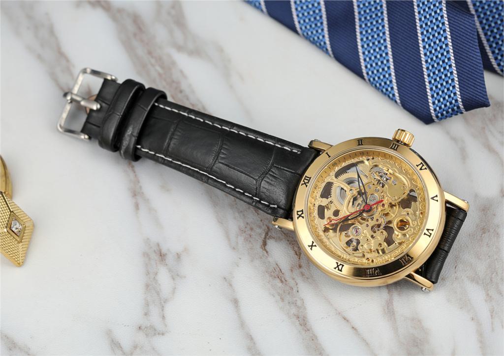 superior marca de luxo ouro cinta aço