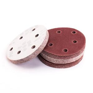 Image 3 - 20pcs/set 125mm 6 Hole 80/120/180/240/320 Grit Sanding Disc Random Orbit Hook & Loop Sander Sand Paper Discs Grit Sand