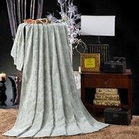 Pluche katoen bed deken solid dobby bloem gooien deken/sprei koningin/dubbele/full size voor bad/slapen/picknick/travel