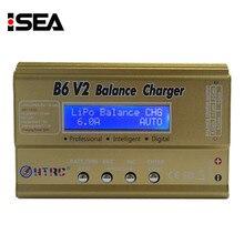 HTRC B6 V2 80 W Profesional Cargador Del Balance Del Descargador de Batería Digital para LiHV LiPo LiIon LiFe NiCd NiMH Batería PB de carga