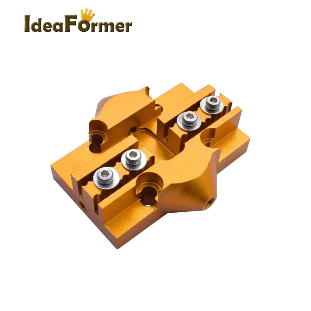 Kossel Delta Slide Mengatasi Effector Tempat Tidur Gantung Mini Kereta Ditutup Loop Sabuk Paduan Aluminium Kossel Delta Effector 3D Bagian Printer.