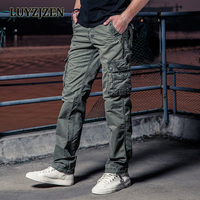 Brand Men S Cargo Baggy Pants Warm Casual Multi Pocket Pants Long Military Army Work Trousers