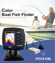 LUCKY FF918-CWLS 980 Feet 3.5″ LCD  90 Degrees 125 kHz Sonar Color Fish Finder 300M Wireless English/Russian used in Ocean River