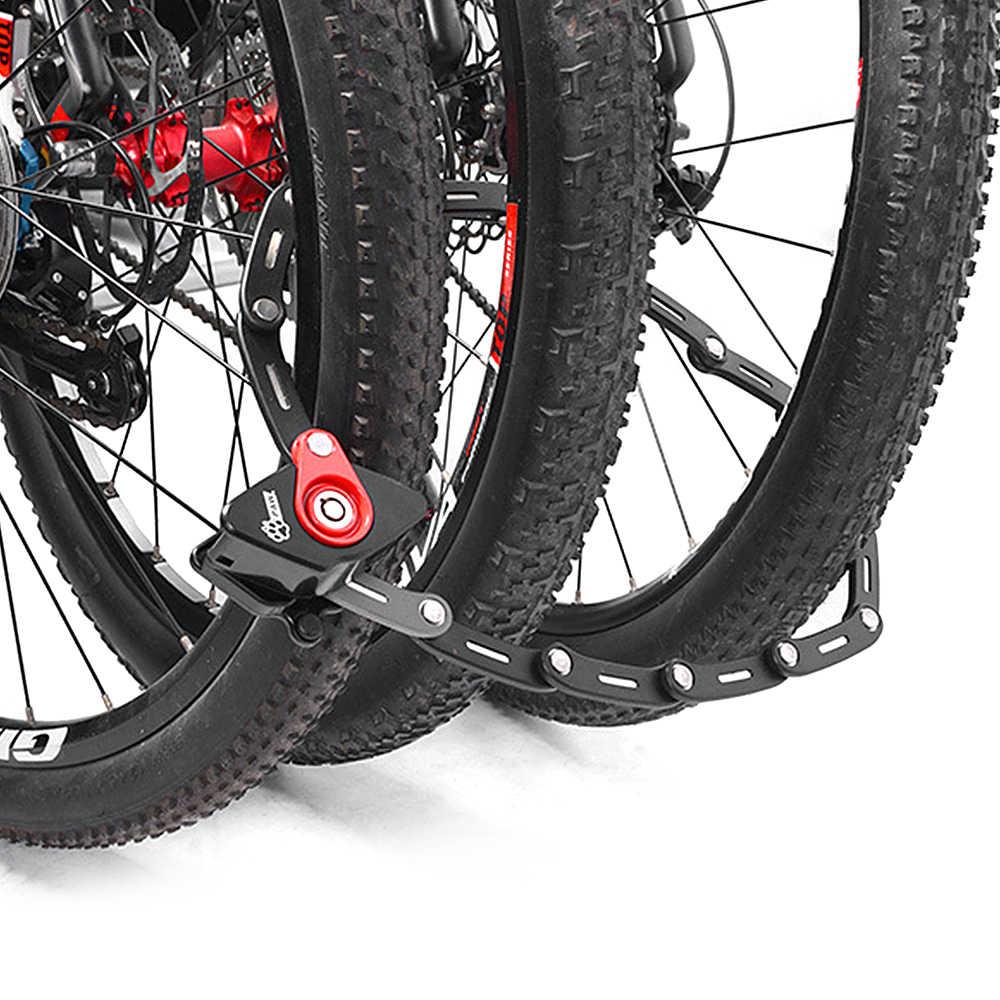 LIXADA Велосипедный Замок Новый складной с 2 клавишами сильная безопасность Противоугонный велосипедный замок кронштейн из сплава Кронштейн Горный Дорожный велосипед замок