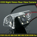 CCD night vision with 4 LED lamps Car Rear View Reverse Camera FOR VOLVO S80 S40 S60 V60 XC90 2003-2013 XC60 2010-2015 car