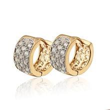 Позолоченные серьги-кольца Huggie для женщин, Серьги Brincos с камнями и кристаллами, модные ювелирные изделия,, 20E18K-33