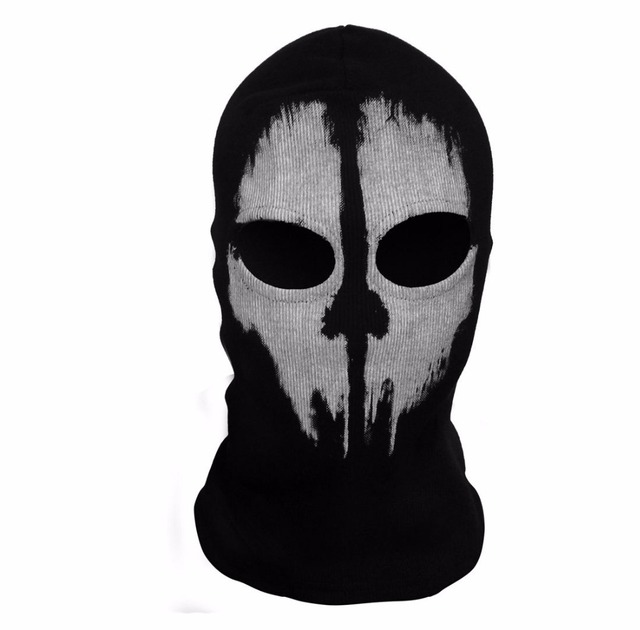 SzBlaZe Brand Call Duty Ghosts Cotton Balaclava Mask Halloween Full Face Game Cosplay Stocking mask CS player Skullies Beanies 1