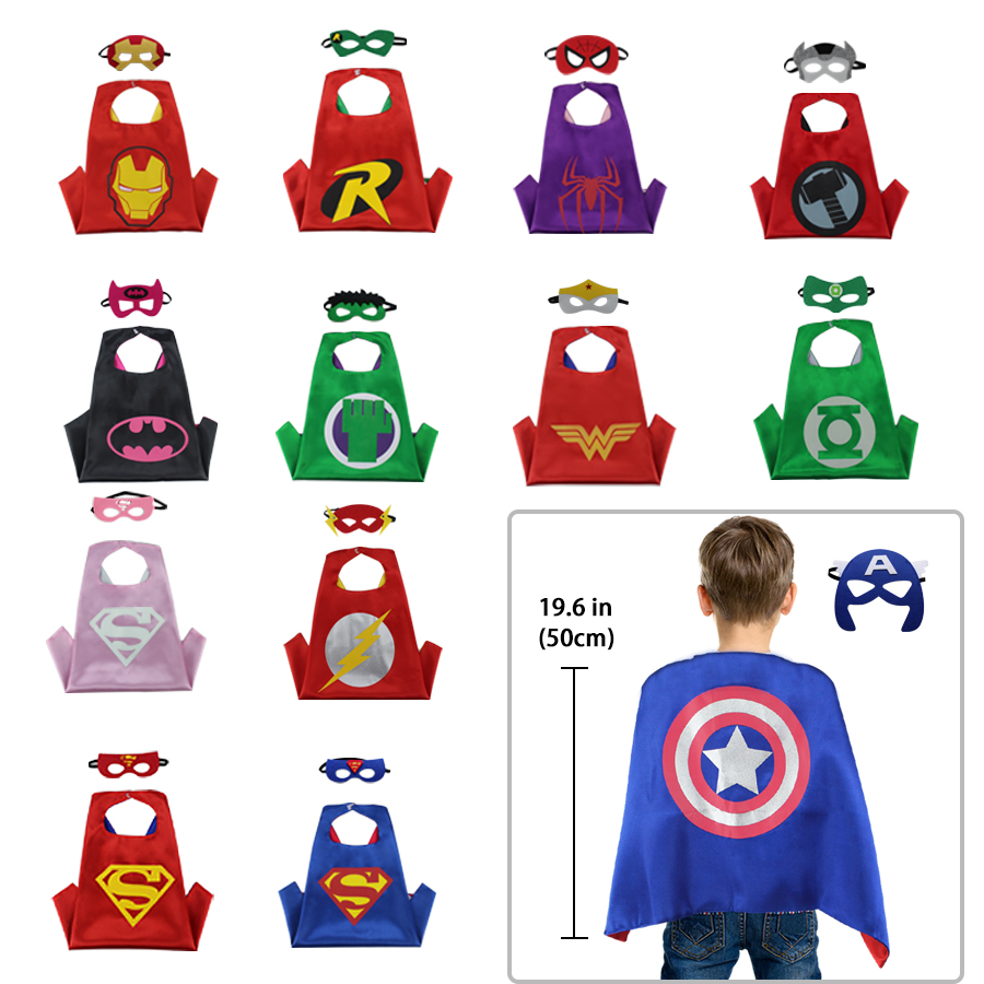 Iron Man Superhero Cape /& Mask