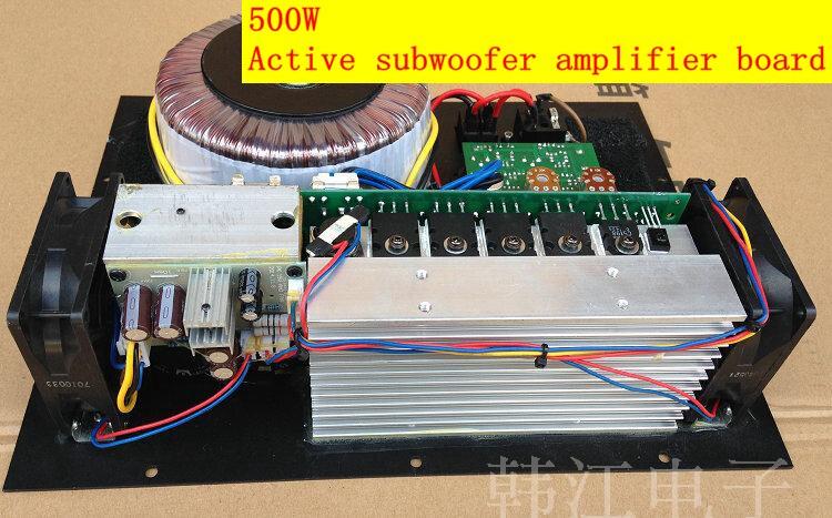 Coisa real 220 v casa 500 w placa ativa do amplificador do subwoofer