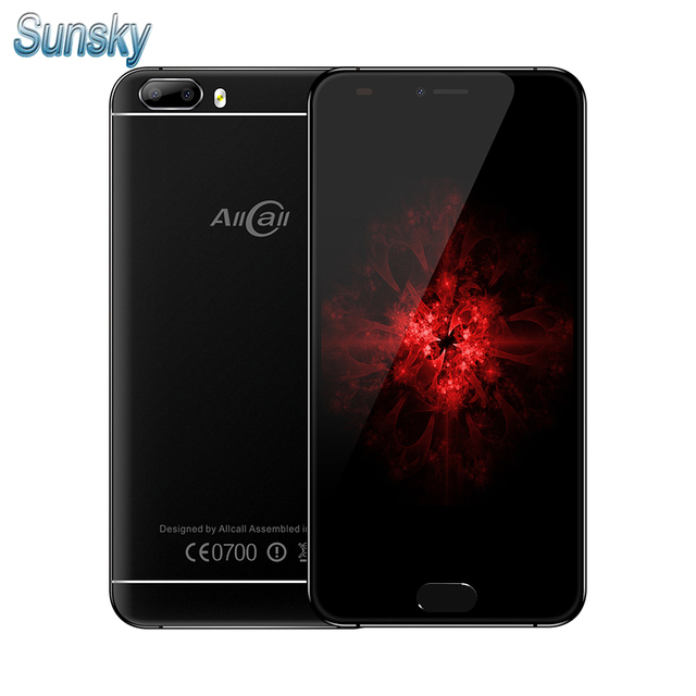 Original AllCall Bro 5.0 Inch MTK6580A Quad Core Smartphone 1GB RAM 16GB ROM Dual Rear Camera Cellphone Android 7.0 Mobile Phone