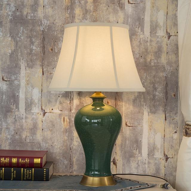 Vintage Chinese Bedroom Living Room Wedding Table Lamp Jingdezhen Porcelain Ceramic Art Jar